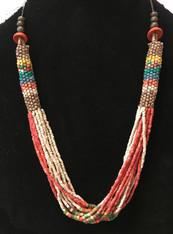 Handmade Ceramic Bead Necklace C Guatemala