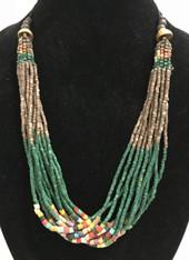 Handmade Ceramic Bead Necklace G Guatemala