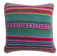 "Handwoven Traditional Wool Pillow Peru ((20"" x20"")"