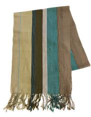 "Handwoven Natural Dyed Table Runner Mexico (14"" x 78"")"