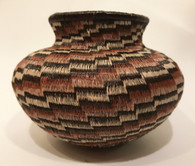 "Handmade Natural Fiber Wounaan Basket Panama  (3""tall x4""wide)"
