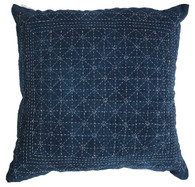 "Hand embroidered Vintage Indigo Pillow China ( 18"" x 18"")"