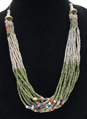 Handmade Ceramic Bead Necklace F Guatemala
