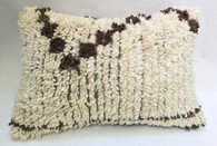 "Handwoven Knotted Wool Pillow Morocco (16"" x 24"")"