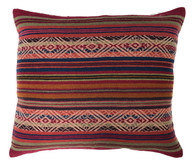 "Handwoven Traditional Woolen Natural  Dyed Pillow Peru (16"" x 19"")"