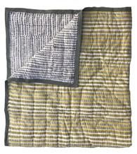 "Block printed Baby Quilt India (43"" x 54"")"