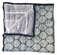 "Block printed Grey Baby Quilt India (43"" x 54"")"