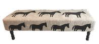 """Handmade Wool Felt Pony Design Bench  Afghanistan (20""""W x 60""""L)"""
