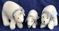 Handmade Wool Felt Polar Bear Nepal
