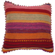 "Handwoven Traditional Woolen Pillow Peru (19"" x 19"")"