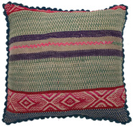 "Handwoven Traditional Woolen Pillow Peru 2 (19"" x 19"")"