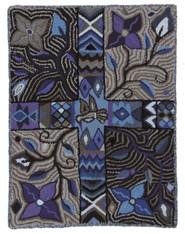 "Handmade Hooked Rug by Carmen  Guatemala (24"" x 33"")"