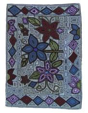 "Handmade Hooked Rug by Juana Guatemala (24"" x 32"")"