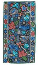 """Handmade Hooked Rug by Maria Ignacia Guatemala (24"""" x 47"""")"""