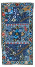 "Handmade Hooked Rug by Carmen Maldanado Guatemala (24"" x 48"")"