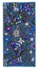 "Handmade Hooked Bird Rug by Carmen Maldonado Guatemala (24"" x 48"")"