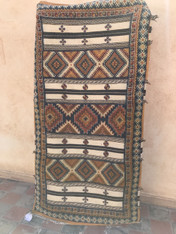 "Tazenahkt  Handmade Glaoui Rug Made by Kebira Moroccan  (41"" x 80"")"
