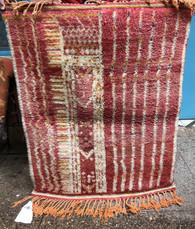 "Red Boujad Handmade Moroccan Pile Rug (39"" x 50"")"