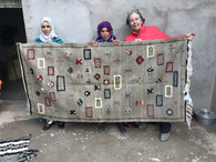 "Hand Woven Ahknif Moroccan Rug (86"" x 42"")"