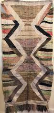 "Handwoven Flat Weave Mixed Fiber Rug Morocco ( 44"" x 90"")"