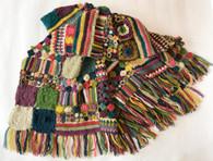 """Hand Crocheted Woolen Throw Nepal (50"""" x 62"""")"""
