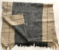 "Handwoven Nettle and Wool Shawl or Throw India (25"" x 76"")"