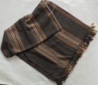 "Handwoven Cotton and Viscose Throw Nepal (55"" x 80"")"