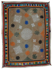 "Handmade Ralli Quilt 7 India (55"" x 75"")"