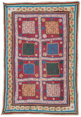 "Handmade Ralli Quilt 10 India (57"" x 84"")"