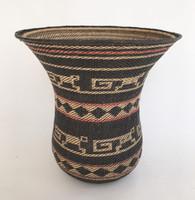 "Handmade Natural Fiber Ye'kwana Basket Venezuela 4 (10"" T x 10""W)"