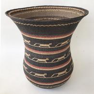 "Handmade Natural Fiber Ye'kwana Basket Venezuela 5 (13"" T x 12""W)"