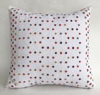 "Handwoven Brocade Cotton Pillow Mexico (15"" x 15"")"