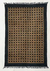 "Handmade Block Printed Natural Dyed Canvas Rug India (48"" x 72"")"