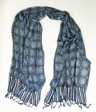 "Handmade Natural Dyed  Batik Rayon Scarf Indonesia (23"" x 68"")"