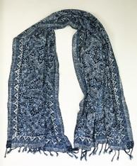 "Handmade Natural Dyed  Batik Rayon Scarf B Indonesia (23"" x 68"")"