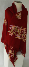 "Handwoven and Hand Embroidered Fine Woolen Shawl India (29"" x 70"")"