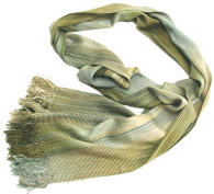 """Bamboo Hand Dyed Hand Woven Scarf Celadon Guatemala (8"""" x 68"""")"""