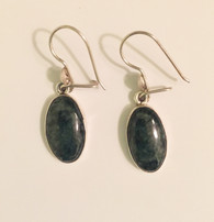 Handmade Deep Green Jade Earrings Guatemala