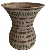 """Handwoven Traditional Ye'kwana Basket Large Venezuela (13.5"""" x 12"""")"""