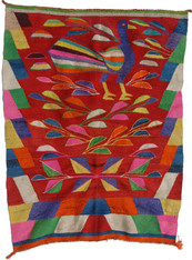 """Handwoven Woolen Rug or Blanket Frazada Peru (45"""" x 63"""")"""