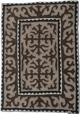 "Handmade Wool Felt Shyrdak Rug Kyrgyzstan (50""x 70"")"