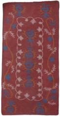 "Handmade Wool Felt Rug Floral design Afghanistan (40"" x 80"")"