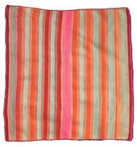 """Handwoven Woolen Vintage Wool Blanket Frazada Bolivia 9 (58"""" x 63"""")"""
