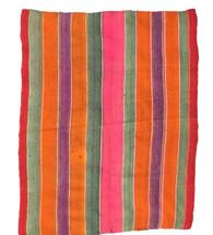 """Handwoven Vintage Blanket Frazada Bolivia  17 (52"""" x 65"""")"""