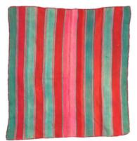 "Handwoven Woolen Vintage Blanket Frazada Bolivia 11 (60"" x 66"")"