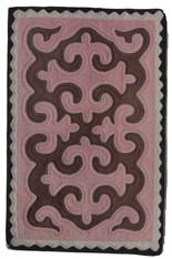 "Handmade Wool Felt Shyrdak Rug Kyrgyztan (28"" x 43"")"