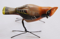 "Handmade and Hand Painted Ceramic Cedar Waxwing Guatemala (2.5"" x 4"")"