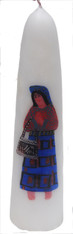 "Handmade Large Traditional Maya Candle D Guatemala (14"" x 3.5"")"