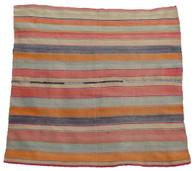 """Handwoven Woolen Blanket Frazada Peru (65"""" x 69"""")"""