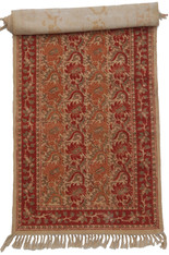 "Hand Block Printed Natural Dyed Cotton Rug  D India (23"" x 72"")"